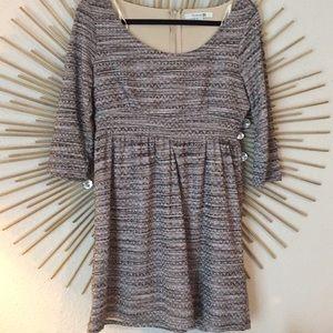Silk threaded mini dress